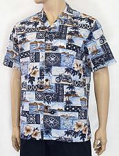 Buy Men's Cruising Aloha Poly Cotton Shirt #RC-10102PC-CH