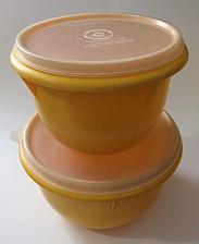 Buy VINTAGE Tupperware Set of 2 Nesting Mixing Bowls Yellow ~ Sheer Lids ~ #270 #271