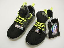 Buy Flashlight Boys Size 1 Black Lime Rechargeable LED Lightweight Athletic Shoe