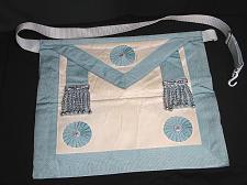 Buy Vintage Masonic Master Mason Apron Regalia Blue and White Freemason Ceremonial
