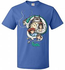 Buy Ghibli Unisex T-Shirt Pop Culture Graphic Tee (4XL/Royal) Humor Funny Nerdy Geeky Shi