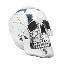 Buy *17013U - Smiling Silvery Skull Skeleton Head Figure