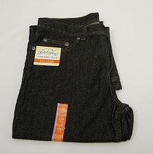 Buy Faded Glory Boys Relaxed Jean Size 14 Husky Black Denim with Adjustable Waist