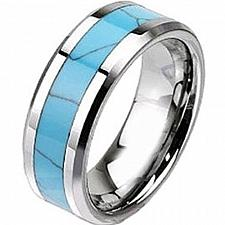 Buy coi Jewelry Tungsten Carbide Wedding Band Ring With Turquoise