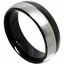 Buy coi Jewelry Titanium Dome Wedding Band Ring
