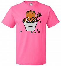 Buy A Pot Full Of Candies Unisex T-Shirt Pop Culture Graphic Tee (L/Neon Pink) Humor Funn