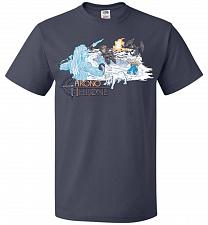 Buy Chrono Throne Unisex T-Shirt Pop Culture Graphic Tee (3XL/J Navy) Humor Funny Nerdy G