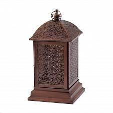 "Buy *17363U - Peregrine Large 14"" Bronze Color Iron Pillar Candle Lantern"