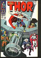 Buy THOR 156 JACK KIRBY STAN LEE Marvel Comics 1968 VF Silver Age nice