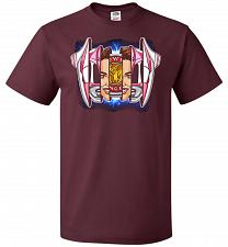 Buy Pink Ranger Unisex T-Shirt Pop Culture Graphic Tee (XL/Maroon) Humor Funny Nerdy Geek
