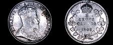 Buy 1906 Canada 5 Cent World Silver Coin - Canada - Edward VII - Lot#9905