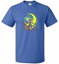 Buy Moon Art Unisex T-Shirt Pop Culture Graphic Tee (M/Royal) Humor Funny Nerdy Geeky Shi