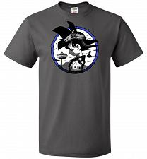 Buy Saiyan Quest Unisex T-Shirt Pop Culture Graphic Tee (L/Charcoal Grey) Humor Funny Ner