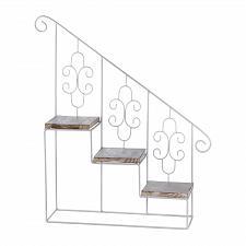 Buy *17538U - White Metal Stair Steps Wall Shelf