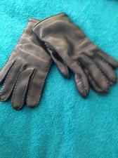Buy polo Ralph Lauren mens black gloves leather & cashmere size small