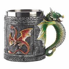 Buy 12694U - Royal Medieval Dragon Handle Polyresin Metal Beverage Mug