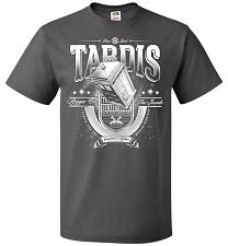 Buy Anywhere and Everywhere Tardis Unisex T-Shirt Pop Culture Graphic Tee (5XL/Charcoal G