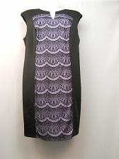Buy Womens Shift Dress PLUS SIZE 22W CONNECTED APPAREL Sleeveless Lace Front Insert