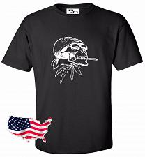 Buy Biker Skull Motorcycle Tattoo T shirt #28