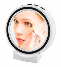 Buy :11003U - Bluetooth Portable Wireless Speaker Makeup Mirror LED Alarm Clock