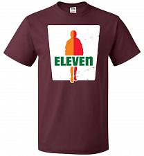 Buy 0-Eleven Unisex T-Shirt Pop Culture Graphic Tee (5XL/Maroon) Humor Funny Nerdy Geeky