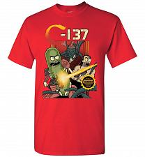 Buy C-137 Schwifty Squad Unisex T-Shirt Pop Culture Graphic Tee (4XL/Red) Humor Funny Ner
