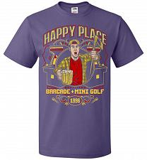Buy Gilmore's Happy Place Adult Unisex T-Shirt Pop Culture Graphic Tee (2XL/Purple) Humor