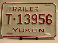 Buy Yukon License Plate Trailer T 13956 New Old Stock Vintage NOS
