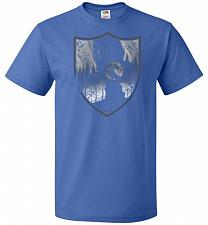 Buy Direwolves House Unisex T-Shirt Pop Culture Graphic Tee (3XL/Royal) Humor Funny Nerdy
