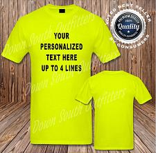Buy CUSTOM Personalized T-shirt Your Text Printed 50/50 Blend