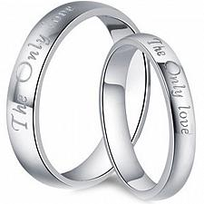 Buy coi Jewelry Tungsten Carbide The Only Love Wedding Band Ring
