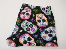 Buy Sueded Capri Leggings SKULL Print Super Soft Sueded Inseam 22 Women SIZE S