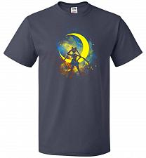 Buy Moon Art Unisex T-Shirt Pop Culture Graphic Tee (XL/J Navy) Humor Funny Nerdy Geeky S