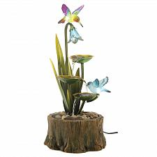 Buy 13900U - Hummingbird Haven Sculpture Light Up Figure Water Fountain Yard Art