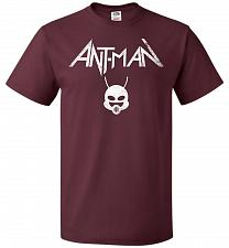 Buy Antman Anthrax Parody Unisex T-Shirt Pop Culture Graphic Tee (3XL/Maroon) Humor Funny