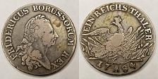 Buy 1784-A German States Prussia 1 Thaler World Silver Coin - Friedrich II
