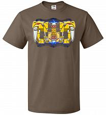 Buy Yellow Ranger Unisex T-Shirt Pop Culture Graphic Tee (3XL/Chocolate) Humor Funny Nerd