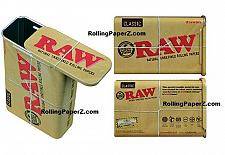 Buy RAW Rolling Papers Slide Top Tin Metal Cigarette Stash Box Storage Tobacco Can