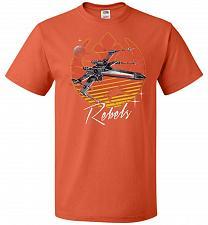 Buy Retro Rebels Unisex T-Shirt Pop Culture Graphic Tee (S/Burnt Orange) Humor Funny Nerd