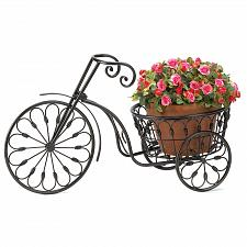 Buy 13185U - Black Wrought Iron Bicycle Plant Stand