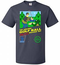 Buy Happy Golf Nintendo Parody Cover Adult Unisex T-Shirt Pop Culture Graphic Tee (2XL/J