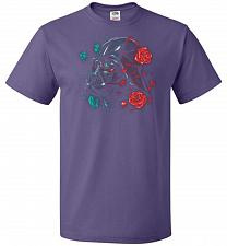 Buy Darkside of the Bloom Unisex T-Shirt Pop Culture Graphic Tee (3XL/Purple) Humor Funny