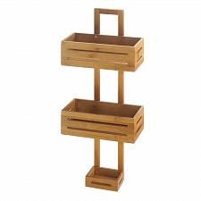 Buy *18318U - Bamboo Brown Wood Hanging Shower Caddy Organizer