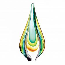 Buy *18104U - Yellow Green Teardrop Glass Art Decorative Accent Figure