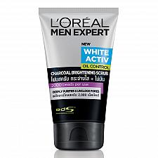 Buy L'Oreal Men Expert White Activ Oil Control Charcoal Brightening Scrub 100ml