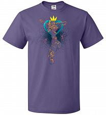Buy Shadow Of The Hearts Unisex T-Shirt Pop Culture Graphic Tee (XL/Purple) Humor Funny N