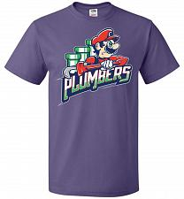 Buy Plumbers Unisex T-Shirt Pop Culture Graphic Tee (3XL/Purple) Humor Funny Nerdy Geeky