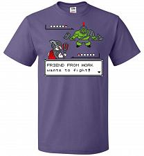 Buy Friendly Foe Unisex T-Shirt Pop Culture Graphic Tee (3XL/Purple) Humor Funny Nerdy Ge