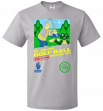 Buy Happy Golf Nintendo Parody Cover Adult Unisex T-Shirt Pop Culture Graphic Tee (S/Silv