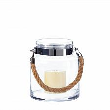 Buy *18148U - Hanging Clear Glass Hurricane Pillar Candle Holder